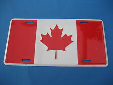 CANADIAN   FLAG     NOVELTY PLATE  (PK68)