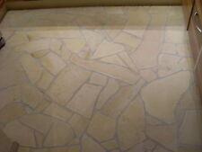 60 m² Mediterrane Bad Fliesen Naturstein Dusche Badezimmer Polygonal Fliesen