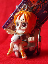 """NEW! ONE PIECE NAMI & Going Merry / 2"""" 5cm SOLID PVC FIGURE Keyring UK DESPATCH"""