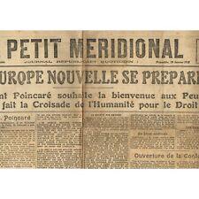 Le PETIT MÉRIDIONAL 19-1-1919 Élection à Loupian-Clermont-l'Hérault-Foot à CETTE
