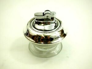 Frank M. Whiting Sterling Silver and Glass Table Lighter
