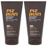 2x Piz Buin INSTANT GLOW Sun Lotion  30SPF 150ml