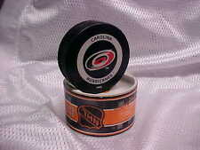 2002 Original NHL Carolina Hurricanes Official On-Ice Hockey Game Puck W/Tube