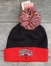 Mitchell and Ness Chicago Bulls Pom Pom Beanie Hat NBA Basketball Cap Mens
