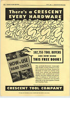 1952 PAPER AD Crescent Tool Use Hand Crestoloy Amateur Professional How-To-Do-It