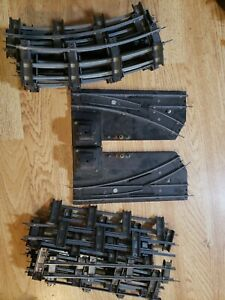 American Flyer LOT of S Gauge Track 16 Straight, 23 Curved Pcs switches