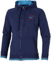 Asics Full Zip Mens Sports Hoody Blue Stylish Casual Training Workout Hoodie