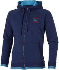 ASICS Mens Blue Leisure Gym Training Sports Long Sleeve Zip Hooded Top M