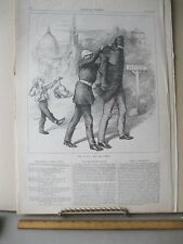 Vintage Print,HOW TO REST,July 1881,Th.Nast,Harpers,Political Cartoons