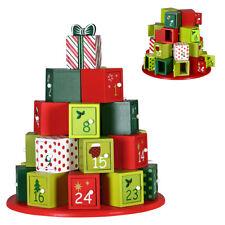 Calendario Avvento Regali di Natale in Legno 24 Cassetti Decorazioni Natalizie