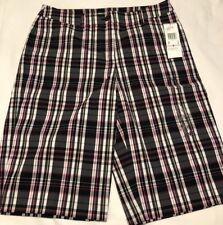NWT ANNE KLEIN Plaid Golf Bermuda Casual Shorts Size 6 Cotton/Nylon Stretch