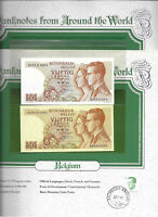 World Banknotes Belgium 1966 50 Francs P-139a.3 UNC 2 consecutive #
