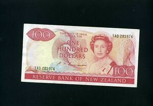 New Zealand 100 dollars 1981-89 P175 - VF+