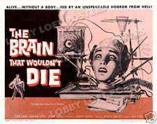 THE BRAIN THAT WOULDN'T DIE LOBBY CARD POSTER HS 1962