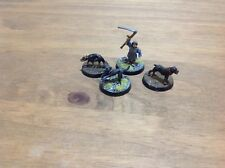 Lord of the Rings-Farmer Maggot with three dogs, Grip, Fang & Wolf