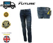 Motorbike Motorcycle Jeans Trousers Lined With KEVLAR Armoured Protective Biker