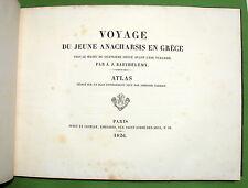 TARDIEU atlas pour le Voyage... Anacharsis en Grèce -1826 -37 cartes & gravures