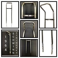 Early 64 PERSONS Solo Polo Square Back Schwinn Stingray Sissy Bar flaking chrome