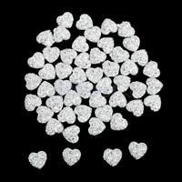 50x 12mm Heart Resin Rhinestone Flatback Scrapbooking Embellishment Phone//Button