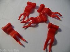 Lego 5 drapeaux rouges set 7946 3409 3420 10211 / 5 red flag 1 x 4 wave