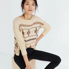 Madewell Embroidered Reseda Pullover Sweater Boat Neck - MSRP $98 - NWT
