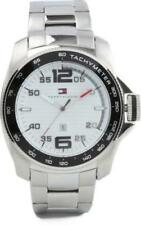 New Tommy Hilfiger Solid Steel Date Men Dress Watch 47mm 1790856 $145