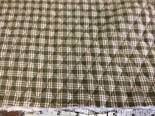 """QUILTED & REVERSIBLE OLIVE & BROWN PLAID--50""""W-- 1 1/2 YARDS"""