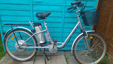 "Electric bike bicycle ebike silver shopper NEW BATTERY & CHARGER 26"" UK support"