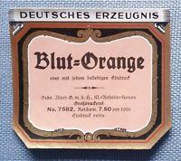 altes Etikett Label Flaschenhalsetikett Blut Orange Likör Illert Hanau Entwurf