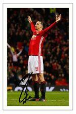 Zlatan Ibrahimovic Manchester United autógrafo firmado foto impresión de fútbol
