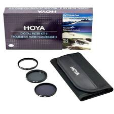 Hoya 77 mm Digital Filter Kit: UV(C) + CPL/Circular Polarizer + NDx8/ND8 + Pouch