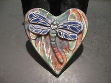 Jeremy Diller Studio Art Pottery RAKU Dragonfly Paperweight Figurine Signed