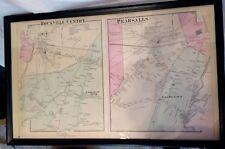 Rare 1873 Rockville Center Persalls Hempstead Long Island Atlas Maps F.W  Beers