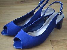 Beautiful M&S Collection Blue Peep Toe Slingback. Size 5.5. Worn Once!