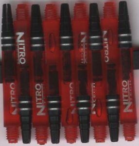 NitroTech Red Medium Polcarbonate/Aluminum Top Dart Shafts: 1 set of 3