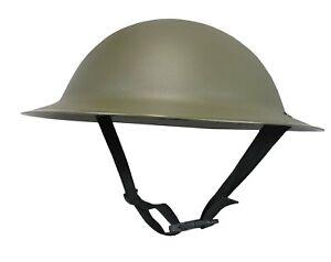 Adult WW2 British Army Brodie Tommy Doughboy Style Costume Plastic Helmet Hat