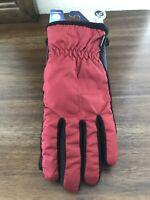 Isotoner SmartDRI Ruby Red / Black Women's Gloves Smartouch Technology /  1 Size