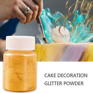 Rainbow Dust Edible Silk Metallic Pearl Sparkle Glitter Cake Lustre Powder Y4V9