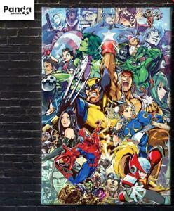 Marvel vs CAPCOM Poster (60x90cm24x36in) X-Men Avengers Street Fighter