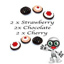 6 Pack Thumbs Up Cupcake  Lip Gloss 2x Chocolate, 2x Cherry and 2x Strawberry