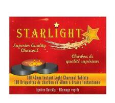 100 Disk STARLIGHT 40 mm XL Instant Charcoal Burn Incense frankincense Hookah