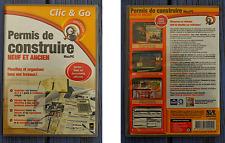 CD-Rom pour PC - Mac, Permis de construire neuf et ancien, Clic & Go, Windows,