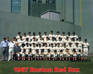 MLB 1967 Boston Red Sox Color Team Picture Fenway Green Monster 8 X 10 Photo