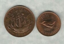 More details for two 1951 proof halfpenny & farthing in near mint condition