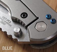 Zero Tolerance ZT0550 560 566 ZT Knife 2pc Pocket Clip Titanium Screws Set  BLUE