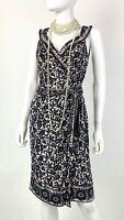 Diane von Furstenberg New 6 US 42 IT M Floral Gray Silk Wrap Dress Runway Auth