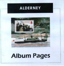 Alderney - CD-Rom Stamp Album 1983-2017 Color Illustrated Album Pages