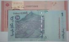 (PL) NEW OFFER: RM 1 ZAB & RM 10 ZC 0273305 UNC ZETI SAME NUMBER REPLACEMENT