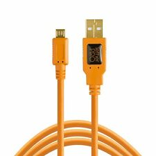 Tether Tools TetherPro USB 2.0 A Male to Micro-B 5-Pin Cable (15', Orange)