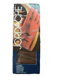 Jordache Women's Ladies Stretch Driving Gloves ,VTG.Brown, One Size Fits All